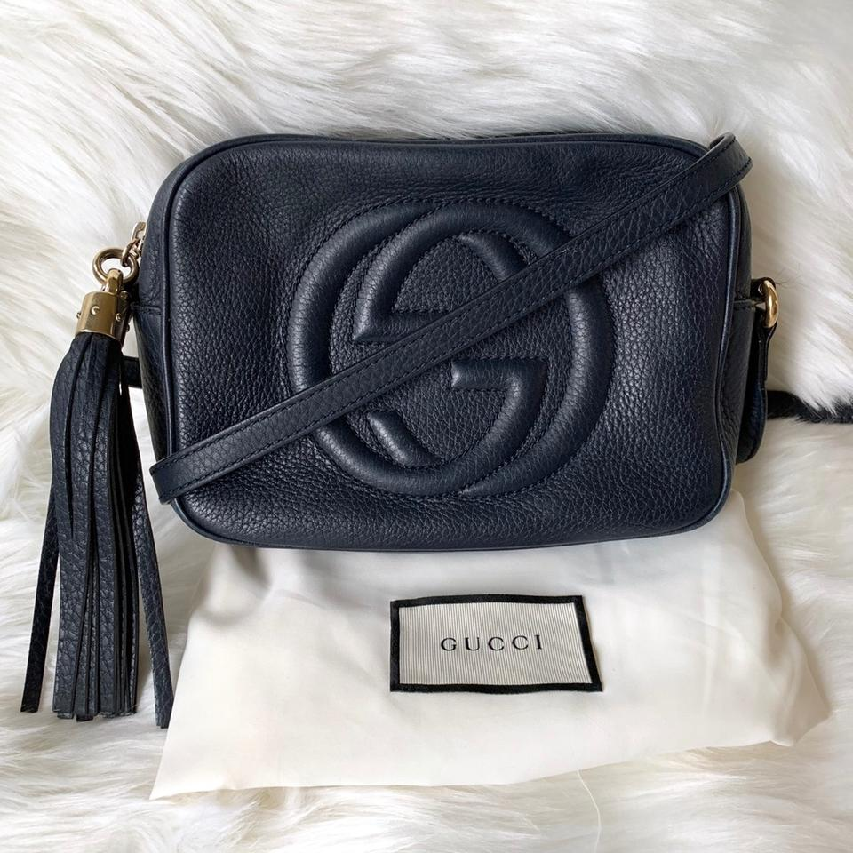 c549fbc771e1 Gucci Soho Disco Navy Blue Leather Cross Body Bag - Tradesy