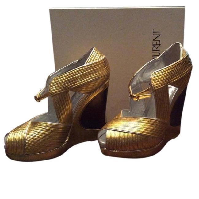 Item - Gold Wedges Size US 5.5 Regular (M, B)