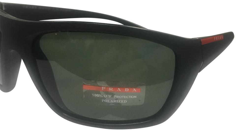 6308cdac7d Prada Prada Linea Rossa Men s SPS 06S Fashion Rectangle Polarized Sunglasses  Image 0 ...