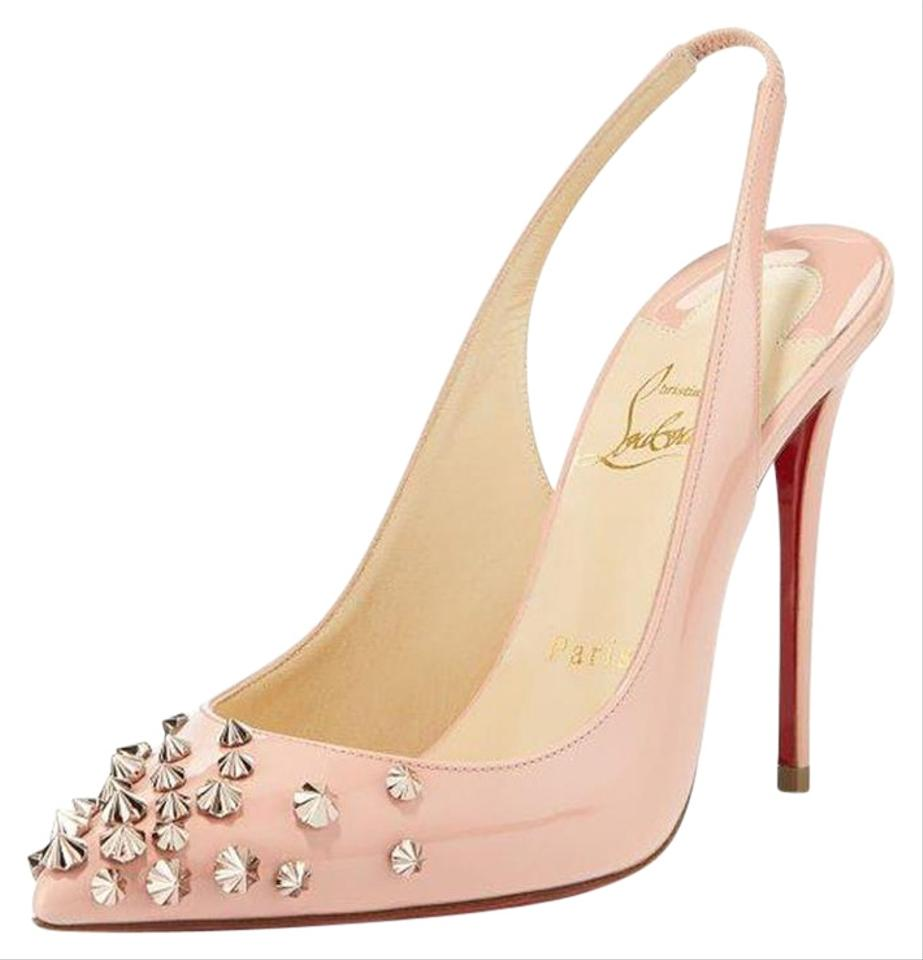 cf832e3132a26c Christian Louboutin Pink Drama Sling 100 Spiked Studded Patent Leather  Sandals Heels Pumps