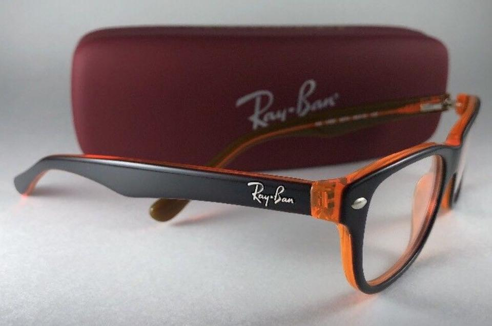 963707d350 Ray-Ban New Junior Rb 1555 3674 Top Brown On Orange Frame 46-16 125 4  Sunglasses