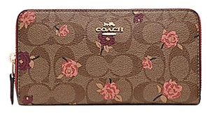 Coach COACH F67538 SIGNATURE CANVAS TOSSED PEONY PRINT WALLET