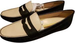 Cole Haan Loafers Work Leather Black and White Flats