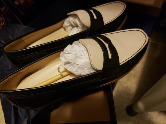 Cole Haan Loafers Work Leather Black and White Flats Image 1