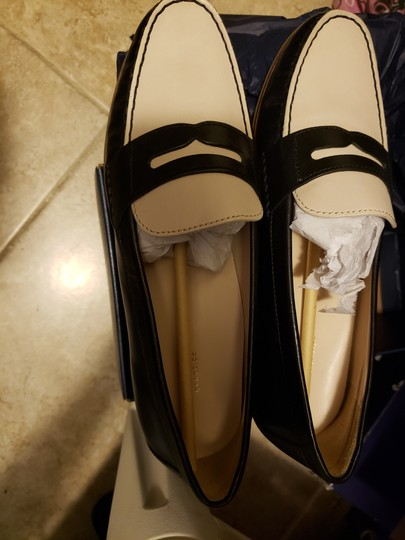 Cole Haan Loafers Work Leather Black and White Flats Image 2