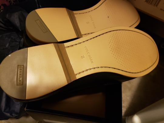 Cole Haan Loafers Work Leather Black and White Flats Image 3