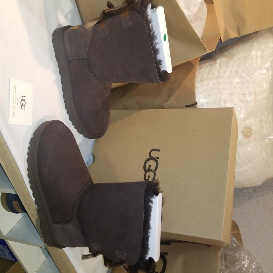 5a25ad2363e UGG Australia Chocolate W Bailey Bow Ii Water Resistant Boots/Booties Size  US 7 Regular (M, B) 19% off retail