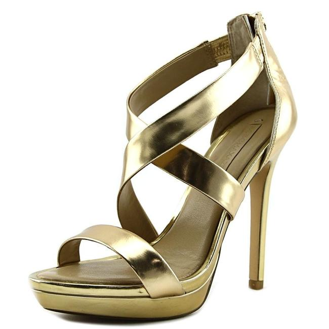 Item - Champagne Gold New Bcbg Max Azria Senna Strappy Sandals Platforms Size US 7 Regular (M, B)