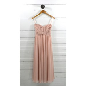Pink Polyester Strapless Evening Gown #101-53 Feminine Bridesmaid/Mob Dress Size 6 (S)