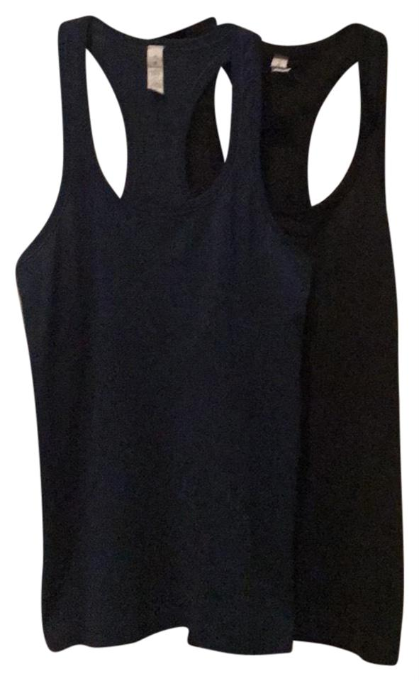 84882b9c38fd3 Lululemon Navy Black Swiftly Tech (Set Of 2) Activewear Top Size 4 ...