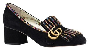 Gucci Loafer Mule Slide Flat Marmont black Pumps