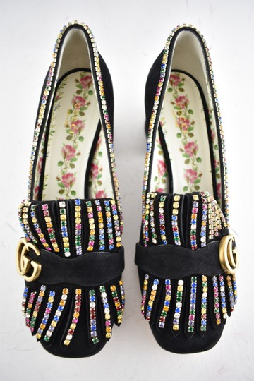 Gucci Loafer Mule Slide Flat Marmont black Pumps Image 6
