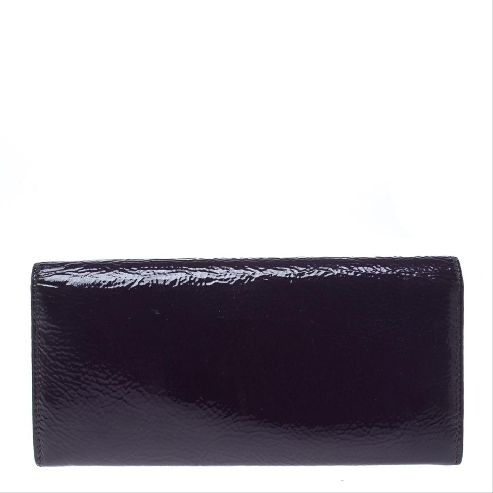 e36ab357a502 Miu Miu Purple Patent Leather Continental Wallet Image 9. 12345678910