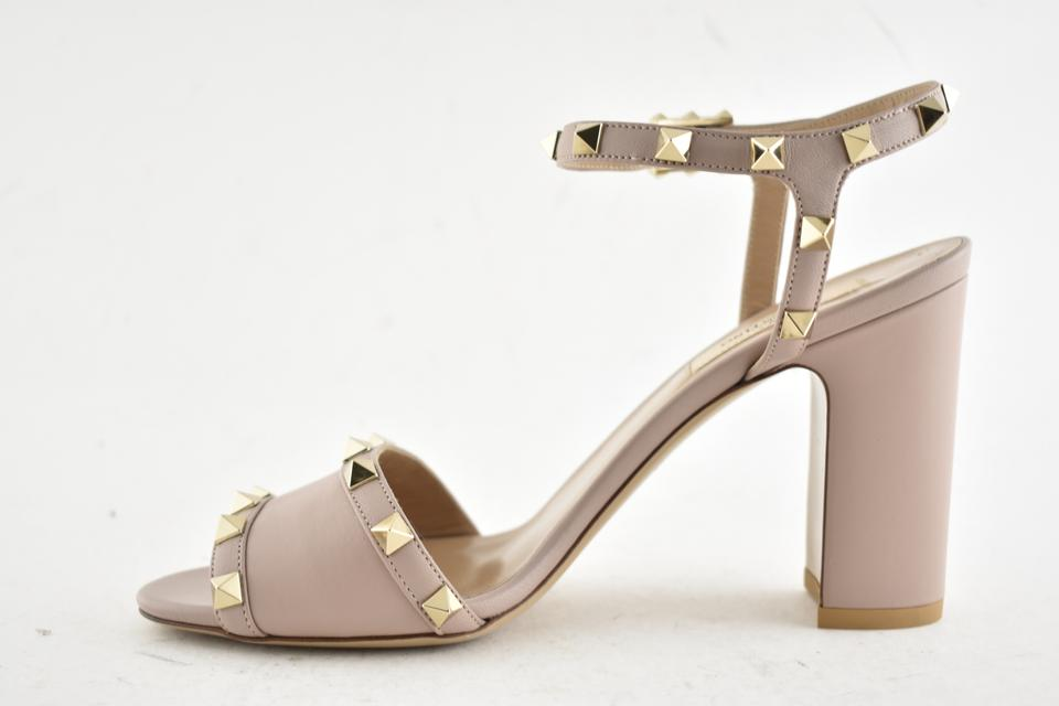 0fee7825d6c6 Valentino Studded Pointed Toe Leather Ankle Strap Branded Insole Nude Pumps  Image 9. 12345678910
