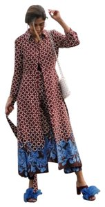 blue Maxi Dress by Zara Flowers Asian Church Belted Circle