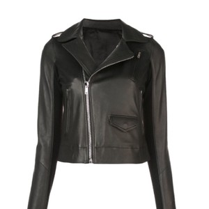 Rick Owens black Leather Jacket