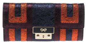 Anya Hindmarch Metallic Multicolor Ceramic Effect Patent Leather Continental Wallet