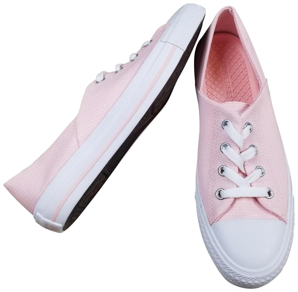 Converse Pink Chuck Taylor All Star Coral Oxford Low Top Sneakers ... 3f32613d4