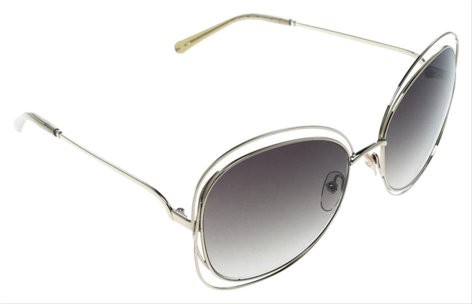89754bbee240 Chloé Gold/Green Gradient CE119S Round Oversized Sunglasses Image 0 ...