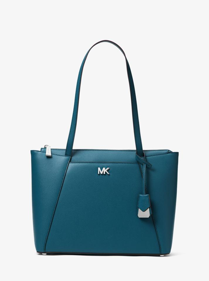 2b2d57611bd8 Michael Kors Maddie Medium 31s8sn2t2l Teal Leather Tote - Tradesy