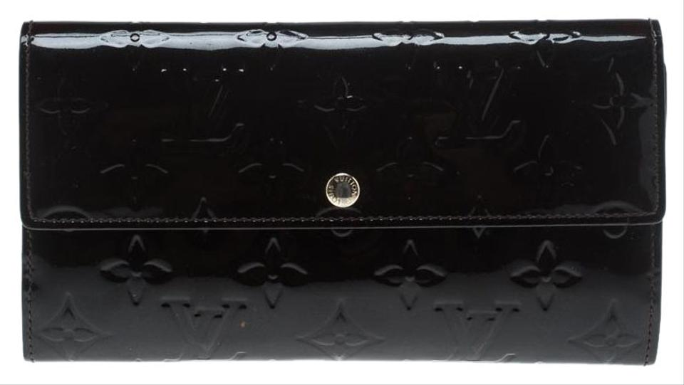 408784eaff35e Louis Vuitton Black Monogram Vernis Sarah Continental Wallet - Tradesy