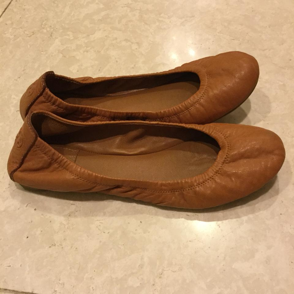 3197d459abc68 Tory Burch Tan Eddie Ballet In Leather Flats Size US 8.5 Regular (M ...