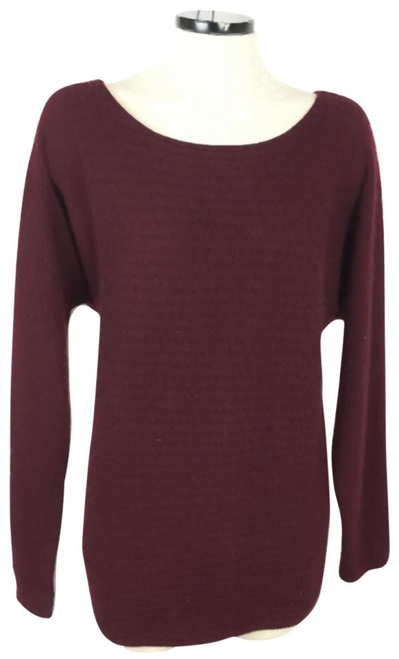 Charter Club Cashmere Ribbed Crewneck Red Sweater - Tradesy 35f7be859