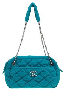 Chanel Quilted Chain Satin Shoulder Bag