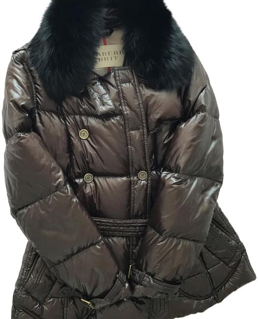 Item - Brown Quilted Down Puffer Coat Size 12 (L)