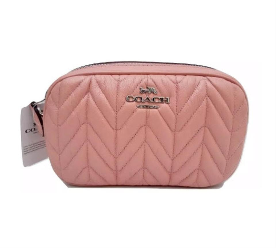 006278f60148 Coach Pink Fanny Pack Convertible Belt Bag with Quilting F38678 Wallet