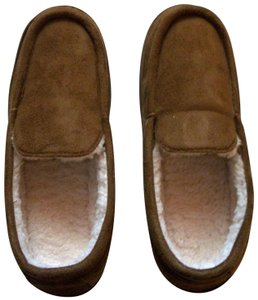 The Sharper Image Brown Memory Foam Unisex Slippers Size 8-9 By Sharper Image