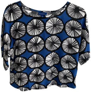 973d84c4623c9d Marimekko for Target Top Blue Black White