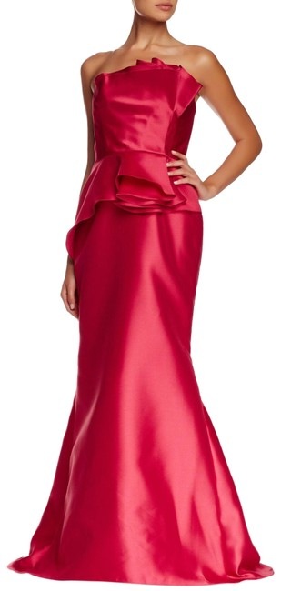 Item - Coral Peplum Mermaid Gown Long Formal Dress Size 4 (S)