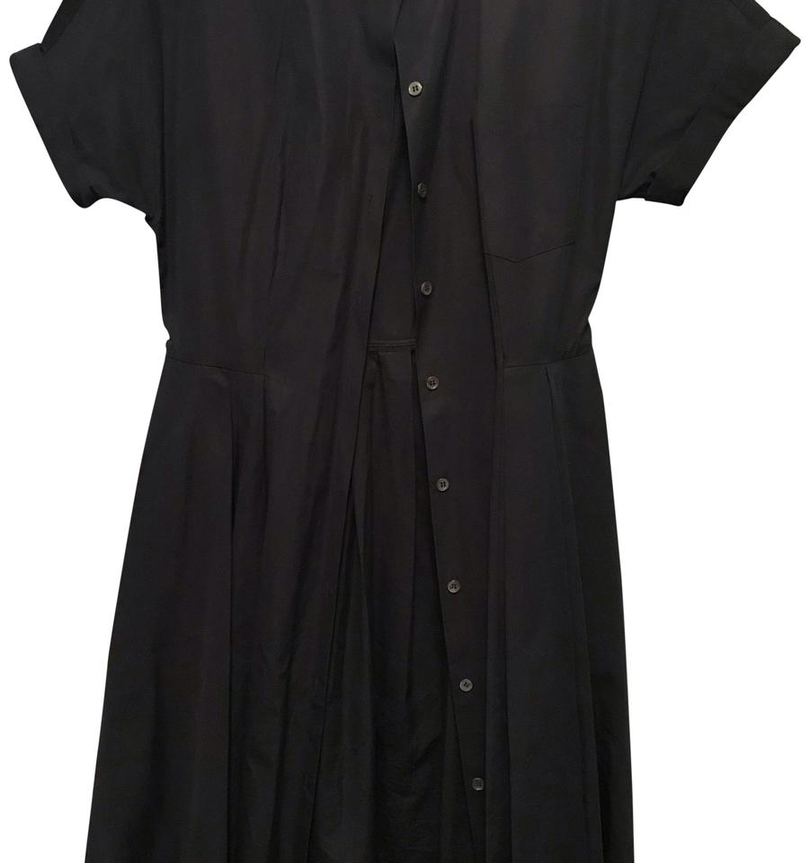 63d86e99caea Theory Navy Blue Button Up Mid-length Casual Maxi Dress Size 4 (S ...