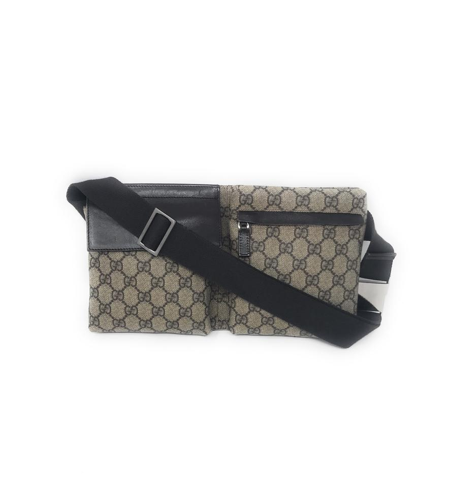 2ea25164460 Gucci Belt Fanny Pack Brown Coated Canvas Wristlet - Tradesy