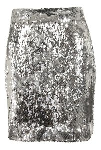 MILLY Mini Skirt Silver