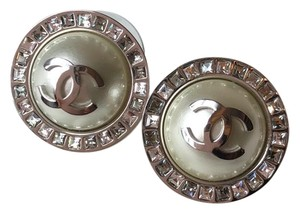 Chanel Chabel Stud Earrings with Pearl