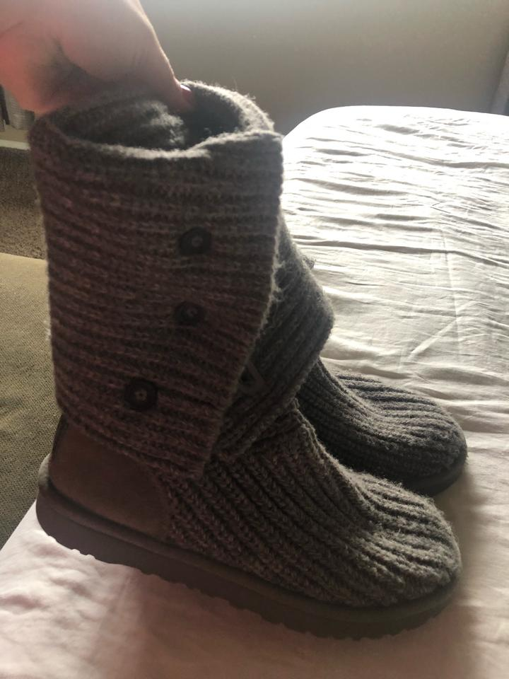 58be9c107f7 UGG Australia Gray Classic Cardy Knit Boots/Booties Size US 7 Regular (M,  B) 57% off retail