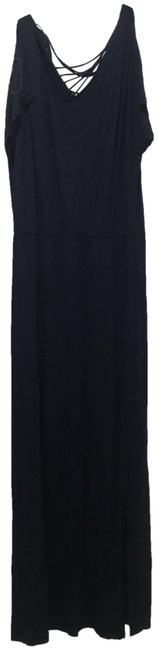 Item - Midnight Solid Color Long Casual Maxi Dress Size 12 (L)