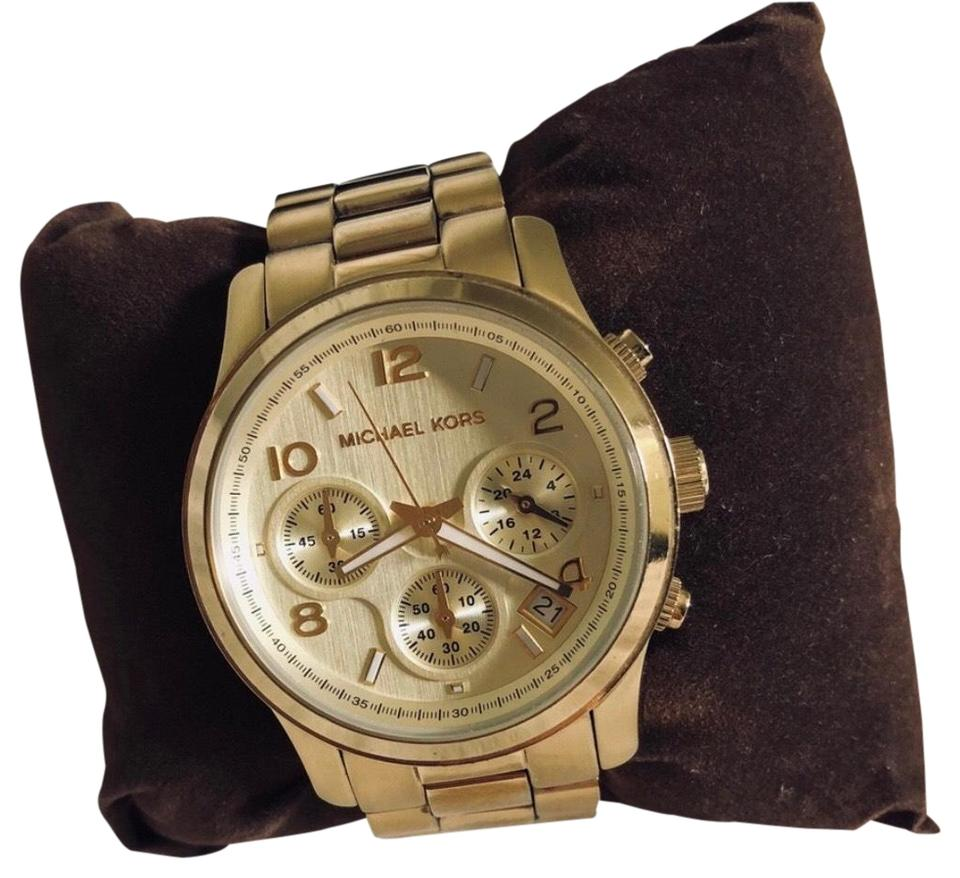 b57e9f32cfd5 Michael Kors Gold Mk5055 Watch - Tradesy