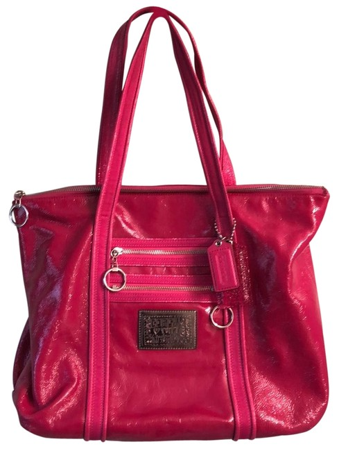 Item - *hold For Tonya H* - Poppy Glam Large Magenta (Hot Pink) Patent Leather Tote