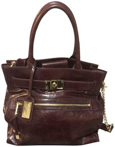 Badgley Mischka Large Almost New Tote in Burgundy 21f222abe8d0a