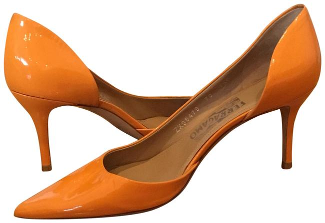 Item - Orange Patent Leather Heels Pumps Size US 8.5 Wide (C, D)