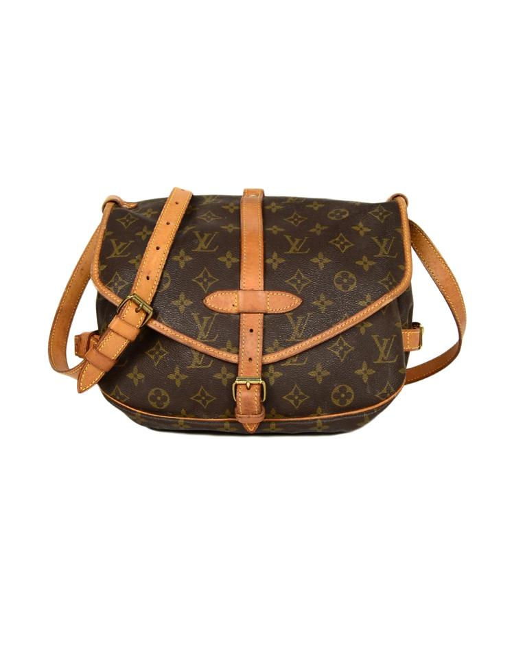 90298ad24a57 Louis Vuitton Saumur Vintage  90s Lv Monogram Messenger 30 Brown ...