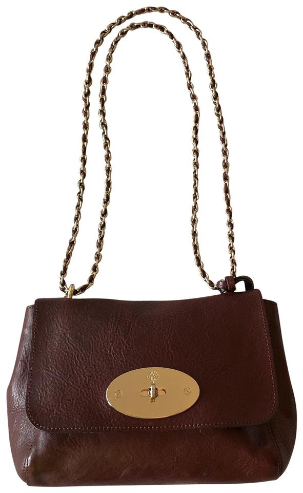 002fbf9445ee Mulberry Lily Medium Oxblood Leather Shoulder Bag - Tradesy