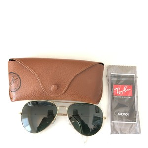 38f5a14c9f Ray-Ban 3025 Large. Ray-Ban Gold Frame Black Green Lenses 3025 Large  Sunglasses