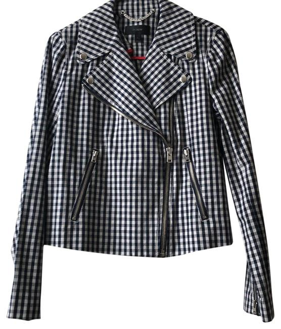 Item - Gingham - Navy/White Never Been Worn Jacket Size 8 (M)