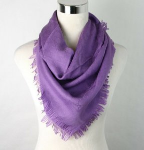 Gucci Violet/Lilac Children's Violet/Lilac Guccissima Wool/Silk Square Shawl 418221 5300 Groomsman Gift