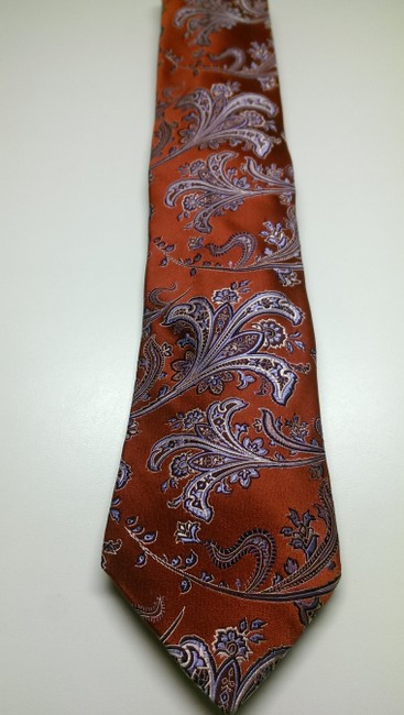 Ike Behar Red Blue White Men's Creme Geo Classic Paisley Theme Bold Woven Tie/Bowtie Ike Behar Red Blue White Men's Creme Geo Classic Paisley Theme Bold Woven Tie/Bowtie Image 1