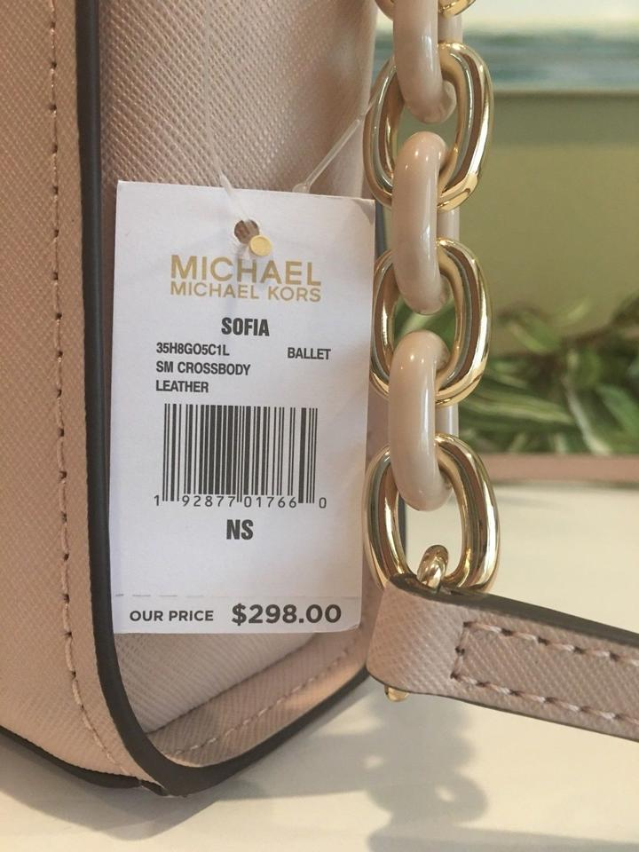 4cc2a2f961a3 Michael Kors Sofia Small Stud Floral Pink Leather Cross Body Bag - Tradesy